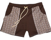 Frankie Four Handmade Men's Vintage Style Brown Swim Trunks