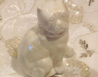 Antique Staffordshire Bull Terrier Figurine