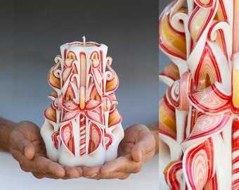Carved candle - Carved candles - Unique candles - Primacandle candles