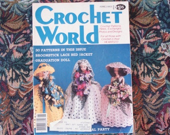 Vintage CROCHET WORLD June 1983.