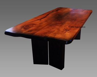 Dining table, mesquite and alder