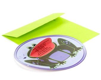 Frog Invitation - Printable PDF