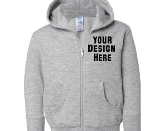 Toddler Custom Embroidered Hooded Sweatshirt--More colors