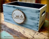 Wedding Program Basket Holder Card Box Crate Rustic Ceremony Decor (YOUR COLOR CHOICE)Medium