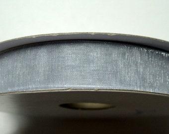 """3/8"""" Organza Ribbon - Silver - 25 or 50 yard Spool"""