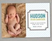 Modern Boy Birth Announcement