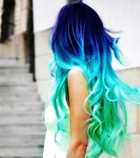 Aqua Blue Mermaid Hair Chalk // Salon Grade Big Sticks High