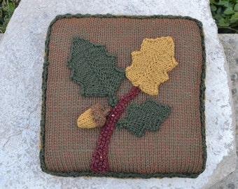 Acorn and Oak Leaf Pillow