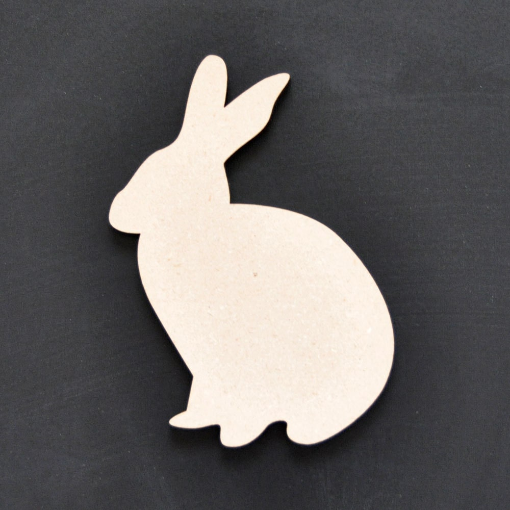 Wooden Bunny Silhouette For Decoration Easter Wreath Or Table