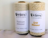 Bakers twine 2 pack Shimmer, gold and silver metallic twine, Christmas bakers twine, twine in gold and silver, Christmas packaging, string