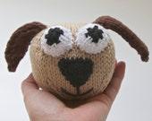 Knitted Toy Puppy stuffed animal, amigurumi, handmade knitting