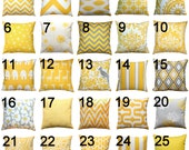 Modern Yellow Pillow- Premier Prints Yellow Pillow Cover- 20x20 inches- Zippered Pillow- You Choose- Cushion Cover- Pillow Case- Throw