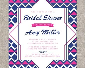 bridal shower invitation - DIY printable file by YellowBrickStudio