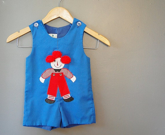 Toddler Romper Boy Raggedy Andy Playsuit 2T Clothing