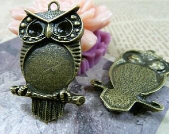 10pcs 32x42mm The Owl Antique Bronze Retro Pendant Charm For Jewelry /Pendant