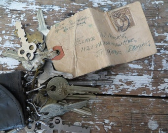 Keys Skeleton Keys 1920s Keys Rustic Decor Industrial Decor