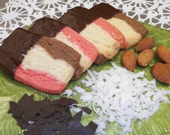 2 dz Neapolitan Cookies dipped in truffle glaze