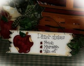 Country Apple Decor APPLES Dinner Choices Whimsical Kitchen Sign