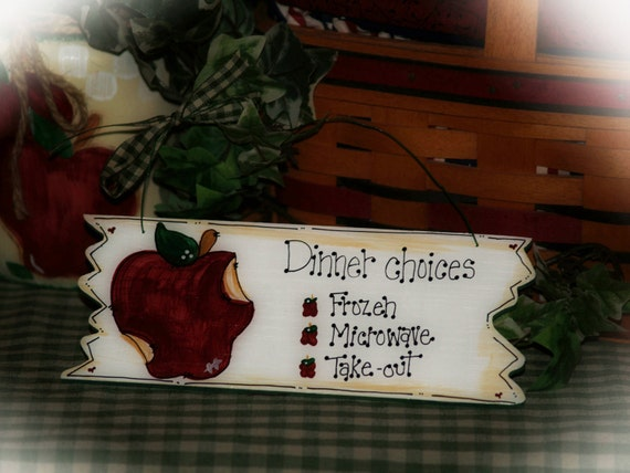 Country Apple Decor Apples Dinner Choices Whimsical