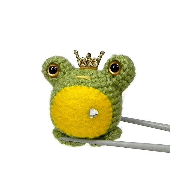 Amigurumi crochet toy doll Prince frog MochiQtie by MochiQtie