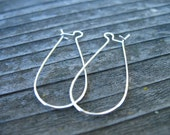 20 pairs Silver Plated Kidney Earring Wires  38 mm Nickel Free