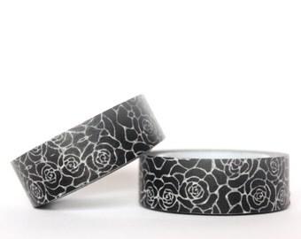 Black Roses Washi Tape
