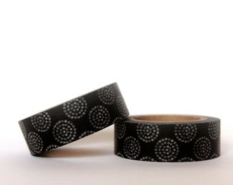 Black Dandelion Washi Tape
