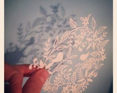 Springtime, a signed print of an original paper cut by Loula Belle At Home