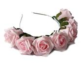 Whole Lotta Rosie Headband - Blush Pink