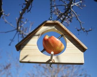 Bird House Style Bird Feeder for apples or other fruit