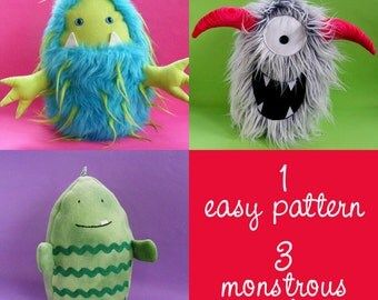 Eggheads Monster Plush Pattern PDF