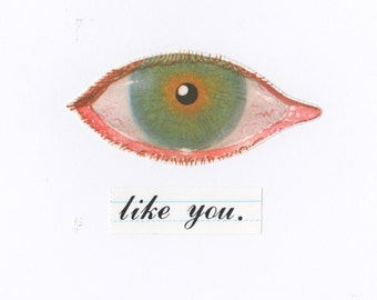 SALE - Eye Like You Eco Friendly Welsh Art Greeting Card