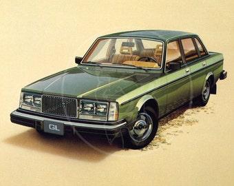 1981 Volvo- 10x14 Giclée Canvas Print of Vintage Advertising Postcard