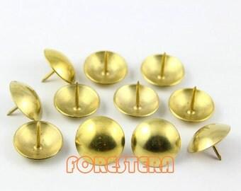 50Pcs 19mm Gold Upholstery Tacks Nails Big (TN14)