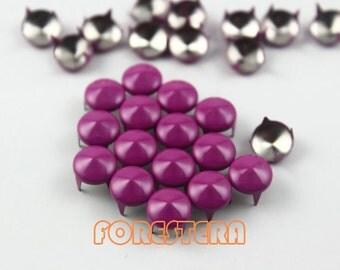 200Pcs 8mm Purple CONE Studs Metal Studs (CC-4006-08)