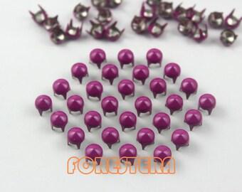 100Pcs 5mm Purple CONE Studs Metal Studs (CC-4006-05)