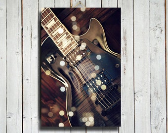 Rockstar - Guitar photography - Electric Guitar decor - Electric Guitar - Guitar decor - Guitar canvas - Music decor