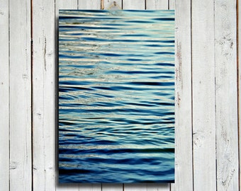 """Waves - Abstract art - Abstract Decor - Blue Art - Blue and Green art - Waves photography - 24x36"""" Canvas - Blue Waves"""