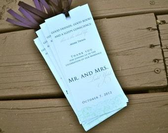 Wedding Favor Bookmarks - Wedding Bookmarks - Wedding Favors - Bookmark Favors for Weddings - Guest Favor