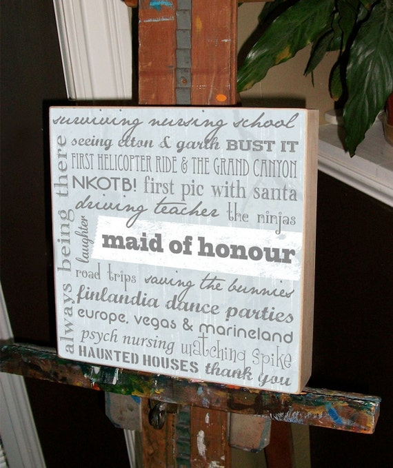 Items Similar To Maid Of Honor Gift, Bridal Party Gifts