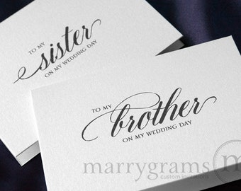 Wedding Card to Your Brother or Sister - Siblings of the Bride or Groom Cards - To My Sister on My Wedding Day Card, Sister-in-Law - CS04