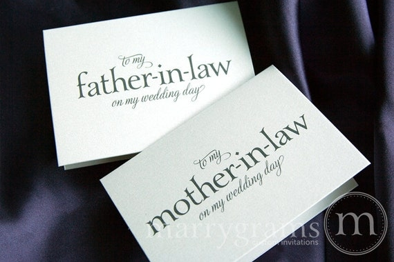 Wedding Gift For Mother In Law: Wedding Card To Your Future Mother-in-Law And Father In-Law