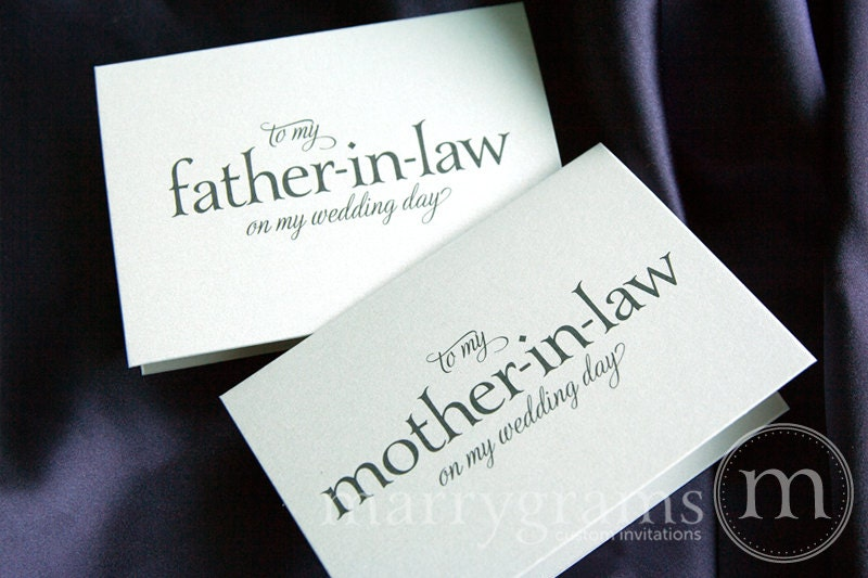 Father In Law Wedding Gifts: Wedding Card To Your Future Mother-in-Law And Father In-Law