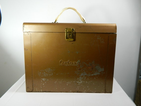Items Similar To Vintage Metal File Box Oxford Sturdy