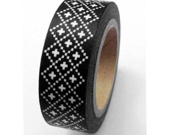 Black Magic - Japanese Washi Masking Tape - 11 yards