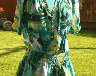 sheer summer blouse x large