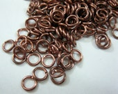 6mm 18 Gauge COPPER JUMPRINGS Oxidized, Pack of 50