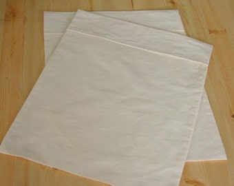 Mac's Travel Size Pillow Case in 100% Cotton Unbleached Muslin, 1 Pillow Case