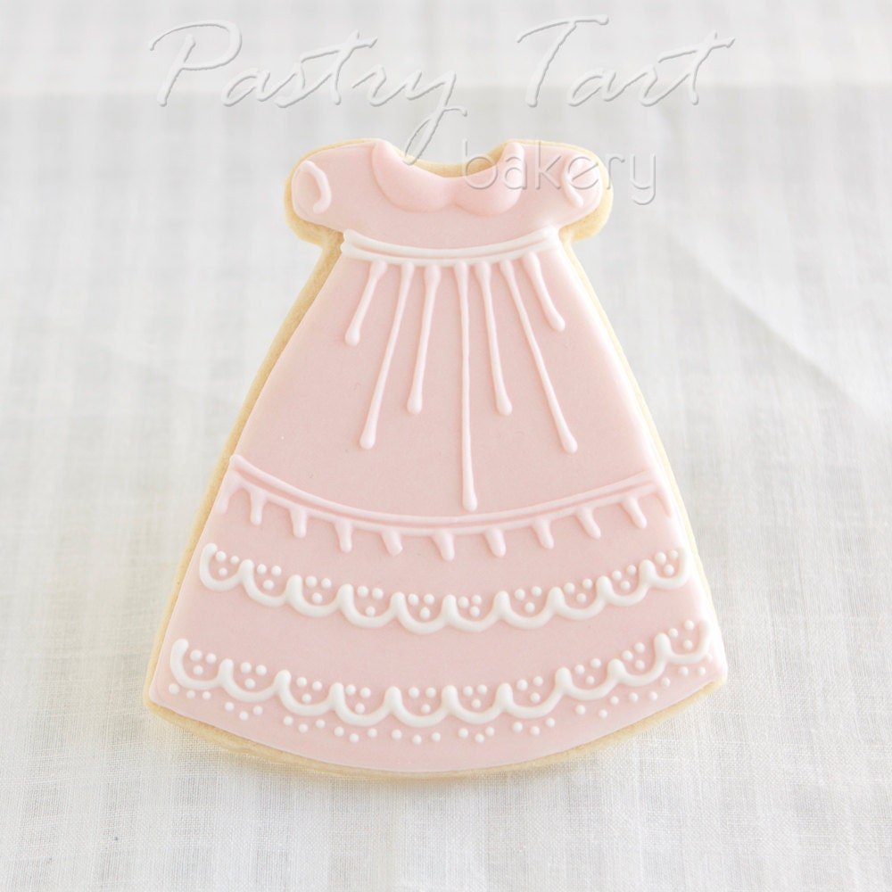 Items Similar To Christening Gown Cookie Favors Pink