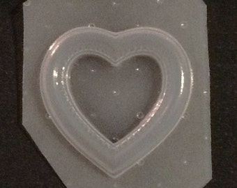 Flexible Resin Heart Shaped Picture Frame Mold
